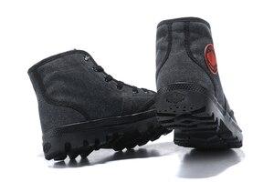 Image 4 - PALLADIUM Pampa płótno pluszowe buty zimowe ogrzewanie mężczyźni Botas kowbojskie botki moda w stylu Vintage płótno obuwie rozmiar 39 45