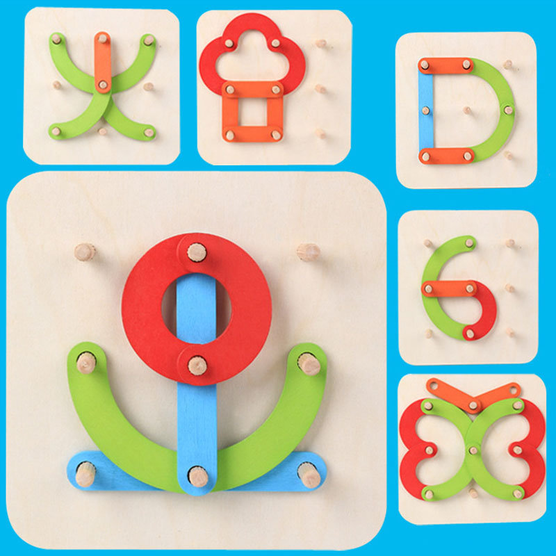 Kinder Holz <font><b>Puzzle</b></font> Vielzahl Sets Kreative Digitale Brief Form Kognitiven Early Education Learning Spielzeug <font><b>Puzzle</b></font> <font><b>Madera</b></font> Bebe image