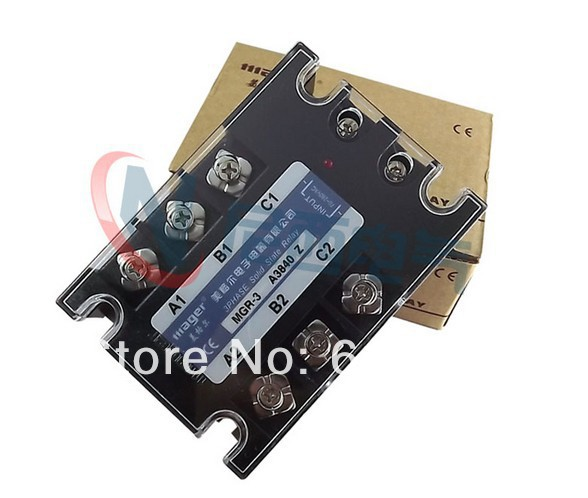 Three-phase solid state relay AC -AC MRSSR-3 MGR-3 A3840Z 60A high quality ac ac 80 250v 24 380v 60a 4 screw terminal 1 phase solid state relay w heatsink
