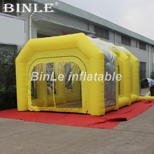 6x4x3m High quality portable inflatable spray booth square tent paint booth with filters for car maintaining цена