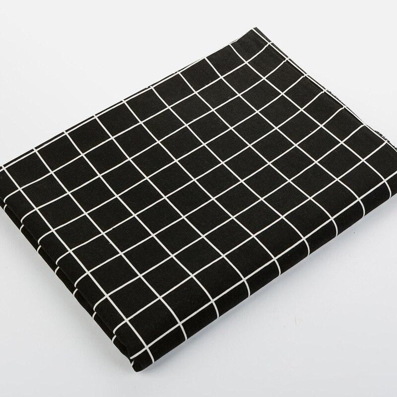 Tissu en toile de lin épais noir et blanc | Tissu en coton, tissu de coton, bricolage fait à la main, rideau, nappe, canapé oreiller, toile de jute