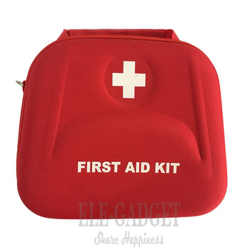 High Quality Home Portable Waterproof First Aid Kit Red EVA Bag For Family Or Travel Emergency Medical Treatment 3