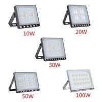 1PCS Ultrathin LED Flood Light 10W 20W 30W 50W 100W IP65 110V 220V LED Spotlight Refletor
