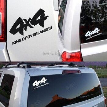4x4 מלך אוברלנדר רכב מדבקה לרכב רפלקטיבית מדבקות עבור 4x4 AWD טויוטה שברולט פולקסווגן טסלה יונדאי לאדה