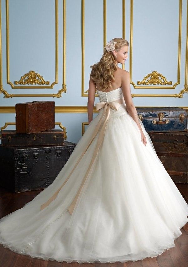 vestido de noiva Beautiful Sweetheart crystal Organza Ruffle Beadeds robe de soiree 2018 Wedding Dresses bridal ball gown in Wedding Dresses from Weddings Events