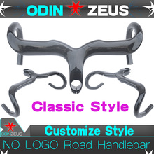 OdinZeus Superstrong Road Bike Handlebar Integrated With Stem Full Carbon Road Bicycle Bent Bar 400/420/440*90/100/110/120mm ec90 carbon road bicycle handlebar integrated handlebar with stem 400 420 440 bent bar bike parts