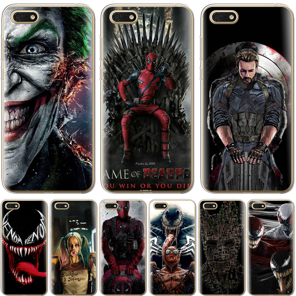 Venom Pattern <font><b>TPU</b></font> Case For <font><b>Huawei</b></font> Y6 Prime 2018 <font><b>Honor</b></font> 7A Pro Silicone Case Cover For <font><b>Honor</b></font> 10 <font><b>9</b></font> 8 <font><b>Lite</b></font> <font><b>Honor</b></font> 7A Phone Cases image