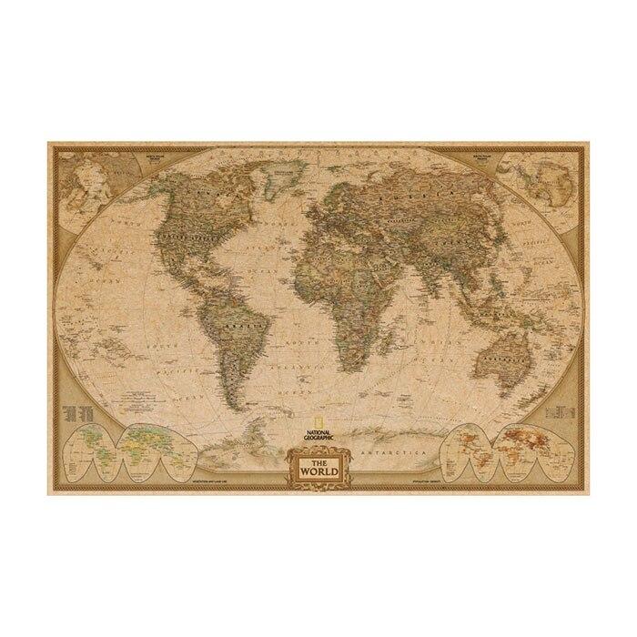 μεγάλος κόσμος Γεωγραφία χάρτης - Διακόσμηση σπιτιού - Φωτογραφία 6