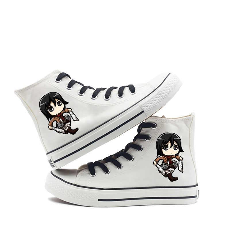 Aanval op Titan Klassieke Hoge Canvas Schoenen Vrouwelijke Studenten Harajuku Ins Vrouwen En Mannen Nieuwe Schoenen A193131