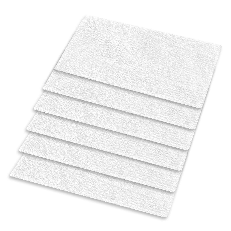 6 embala microfiber lavável de 3 camadas, almofadas do esfregão do vapor da substituição para a maioria de superfície dura do revestimento para a luz easy neasy fácil s3101/s7326