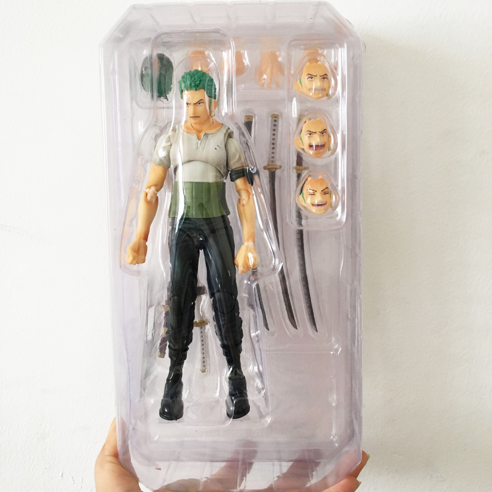 New One Piece Roronoa Zoro Variable Movable PVC Doll Action Figure 3D Model Toy