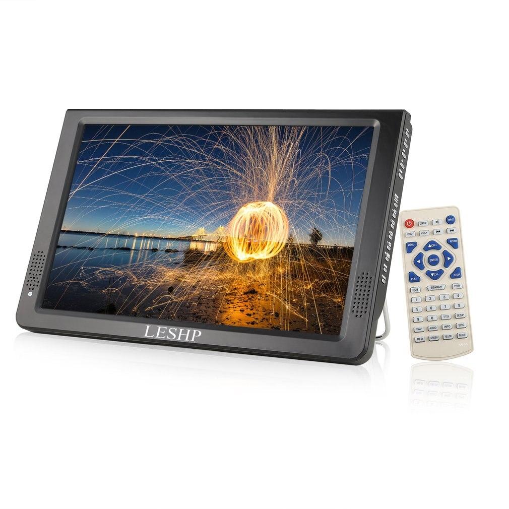 LESHP Portable D12-DVBT-2 lecteur multimédia écran LCD avec Tuner TV numérique 12.1 pouces moniteur LED panneau pilote HD USB/TF