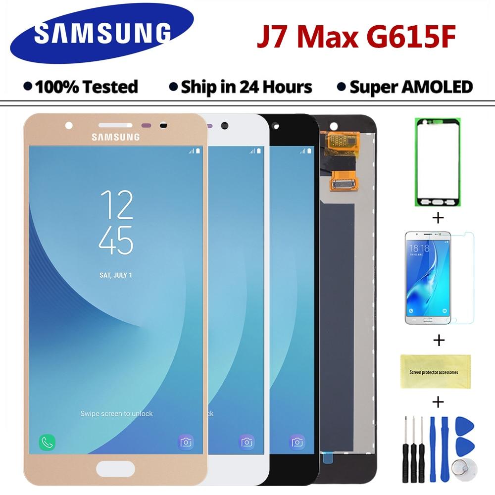 1920X1080 5 7 inch Super AMOLED for Samsung J7 MAX G615 G615F LCD Screen Display Digitizer