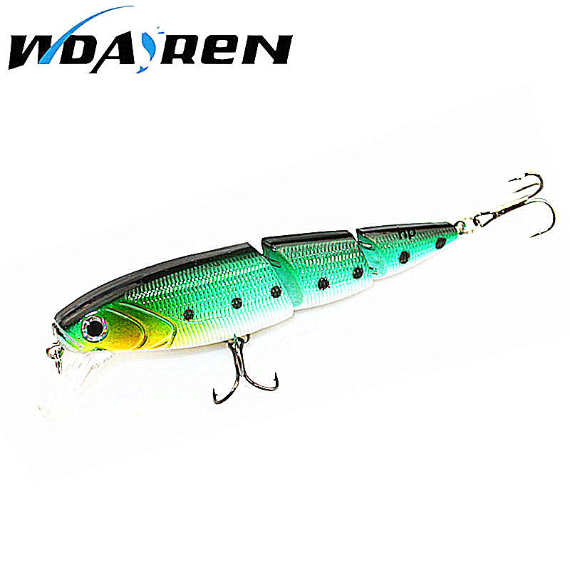 1Pcs Hard Baits Floating Minnow Lures 3 Sections Crazy wobblers fishing tackle 15g 12cm 6Color Crankbait Fishing Tackle FA-179 30pcs set fishing lure kit hard spoon metal frog minnow jig head fishing artificial baits tackle accessories