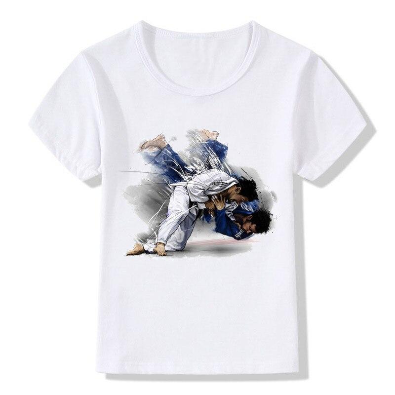 Bébé garçons et filles évolution d'un Judo t-shirt été enfants hauts t-shirt enfants décontracté vêtements doux, HKP402