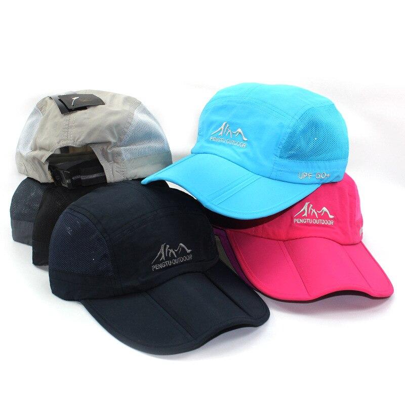 2018 hat for man's hat Travelwaterproof sunscreen outdoor mountaineering folding rain proof peaked cap Uv male sun fishing caps