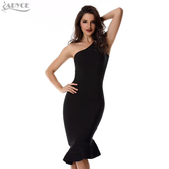 f2f2560cd3f3 ADYCE Summer Women Sexy Bodycon Dress Vestidos Verano 2018 New One Shoulder  Red Black Club Dress Evening Party Bandage Dresses