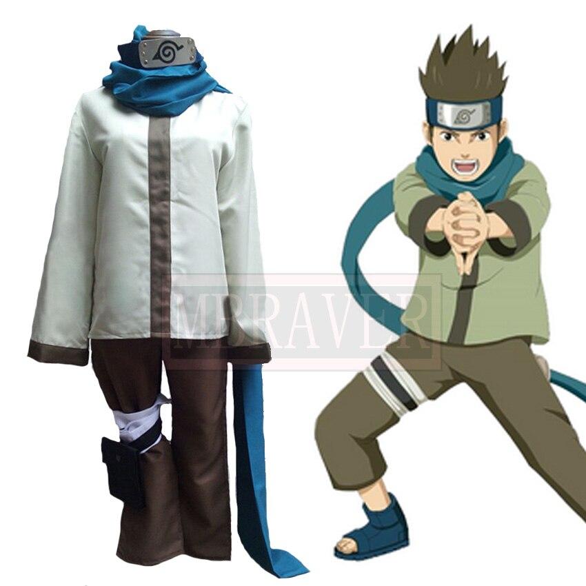 Naruto Sarutobi Konohamaru Cosplay Costume Customized Free Shipping