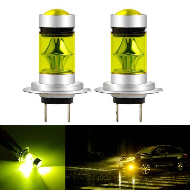 1 قطعة H7 LED لمبة السوبر مشرق 20SMD 3030 أضواء الضباب للسيارة 12 فولت 24 فولت 3000 كيلو 6000 كيلو القيادة يوم مصباح السيارات تشغيل لمبة Led H7