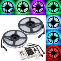 10M SMD 5050 Dream Magic RGB Color LED Color Flexible Light Strip IP67 Water resistant + 133 Change RF Remote Controller
