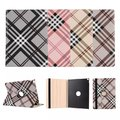 Fashion Plaid Cover for iPad 2 Case 360 Degree Rotating PU Leather Cover for iPad 4 Case Protector Cases for iPad 3 9.7 inch