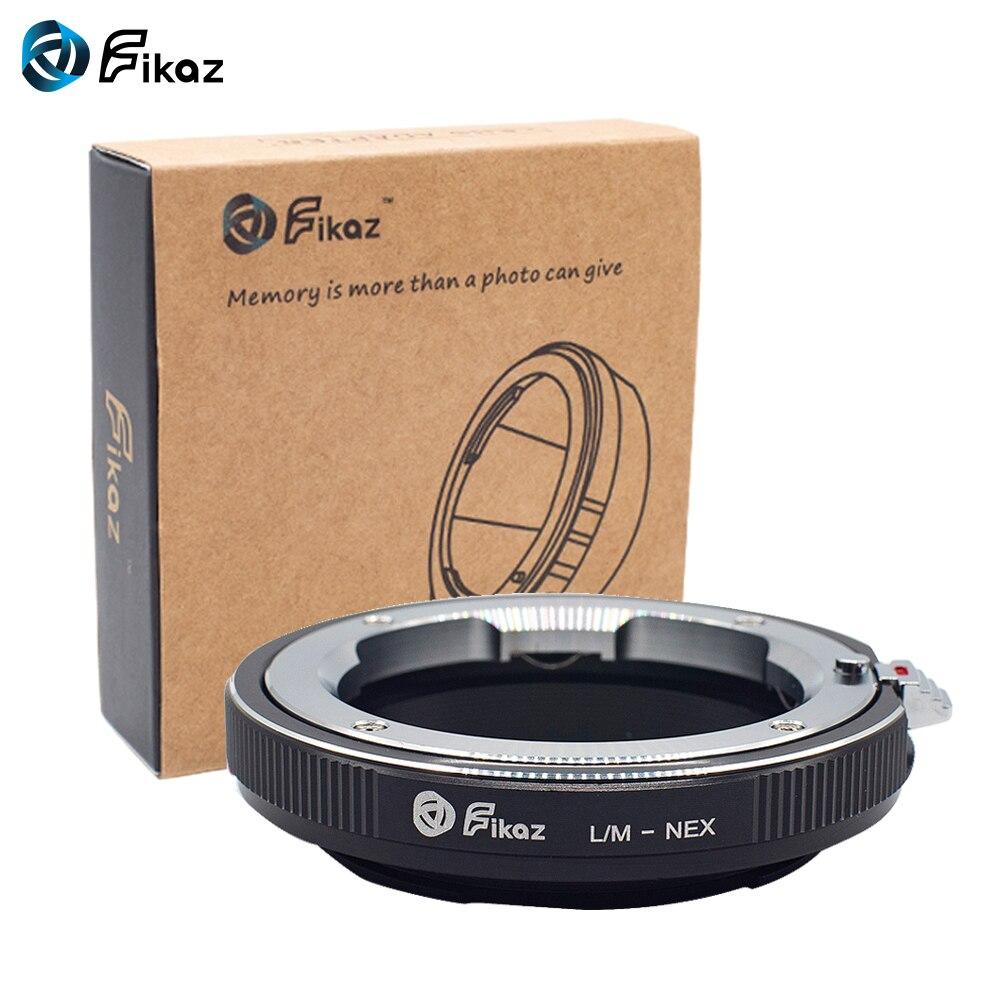 Bague adaptateur dobjectif de caméra Fikaz L/M-NEX pour objectif de montage Leica M vers le corps de caméra Sony NEX e-mount pour Sony NEX3 NEX5 NEX5N NEX
