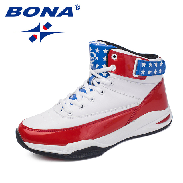 BONA New Arrival Classics Style Men Basketball Shoes Lace Up Men Athletic Shoes Outdoor Jogging Shoes High Upper Sneakers Shoes