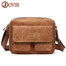 JOYIR Mens Bags Genuine Leather male Crossbody Bag Strap Small Casual Flap Men Messenger Vintage Shoulder