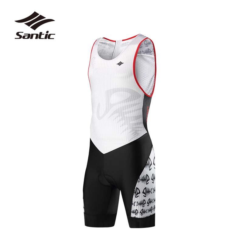 Santic One-piece Cycling Jersey Men Breathable Road Bike Jersey Quick Dry Bicycle Jersey Triathlon Wear For Running Swimming santic one piece cycling jersey men breathable road bike jersey quick dry bicycle jersey triathlon wear for running swimming