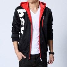 Herbst Männer Kapuzenjacke Männer Korean Lässige Klassische Jacke Mode College Brief Jugend Sweatshirts Plus Größe M-6XL