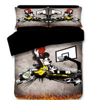 basketball mickey mouse bedding set twin size bed duvet covers for kids room decor queen double bedspread 3 5 pcs boys disney