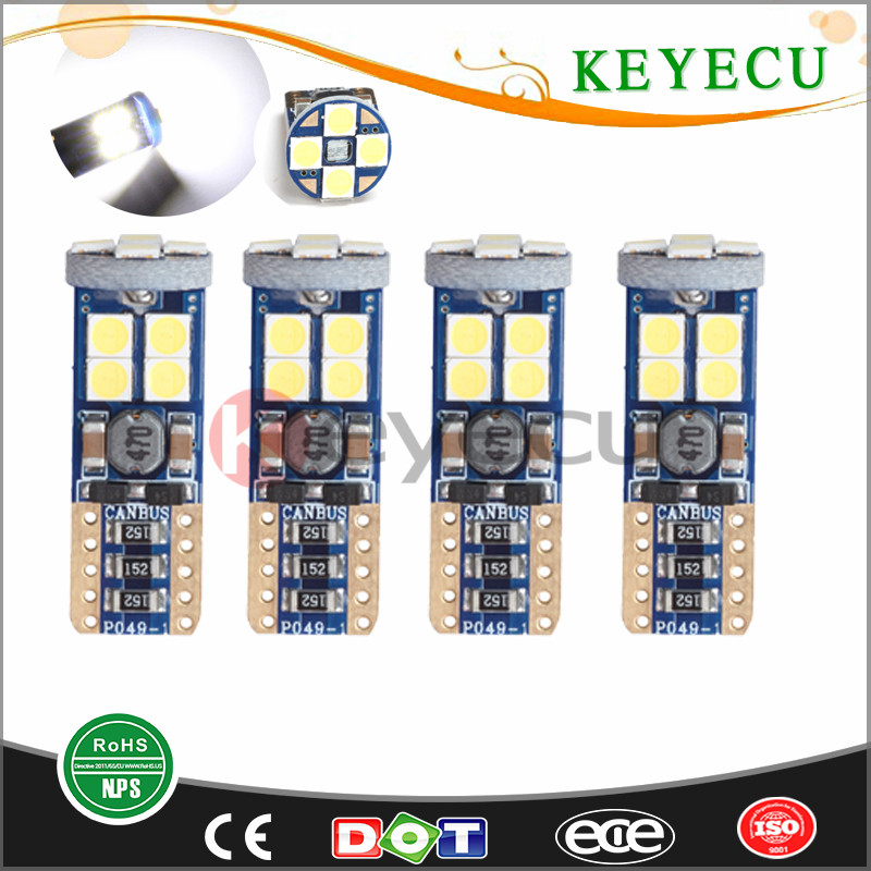 Extremely Bright 12-SMD 3030 Chipset LED Bulbs for T10 168 194 Car Interior Dome Map Door Courtesy License Plate Lights Xenon