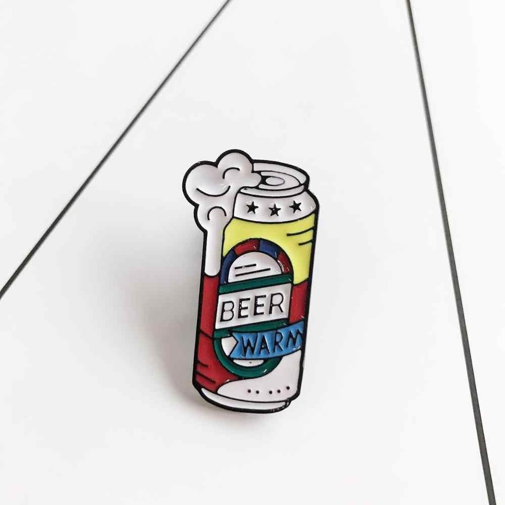 Balon Baru Cangkir Kopi Cinta Kaleng Coke Botol Bros Seri Skateboard Kamera Gigi Lencana Anak Kartun Bros Perhiasan Hadiah PE
