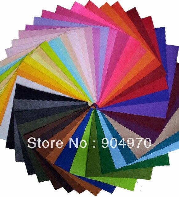 Специальное предложение 42 разноцветные Фетр Ткань полиэстер DIY Фетр Ткань нетканого 30 см x 30 см Бесплатная доставка
