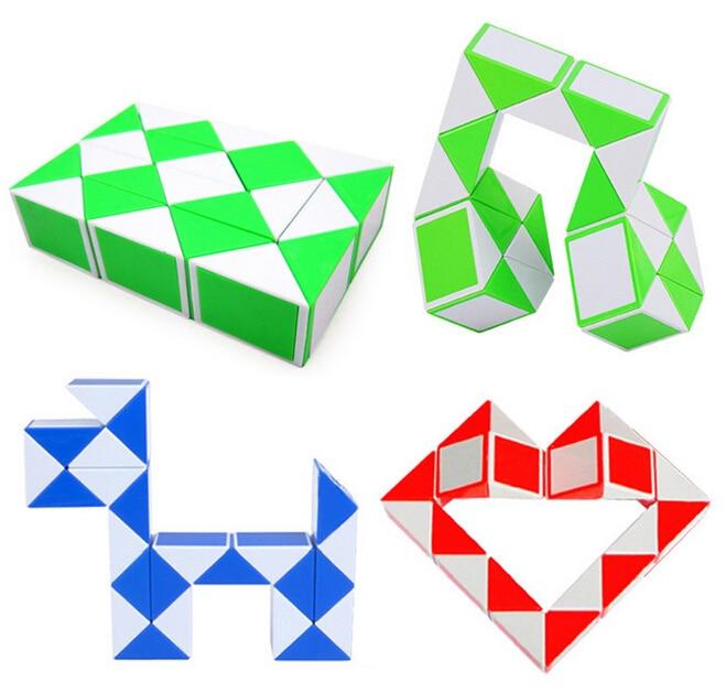 2pcs Creative Snake font b Magic b font Ruler Twist Puzzle Black Red Professional Toy Child