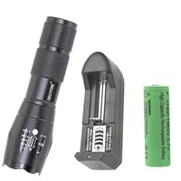 LED Flashlight 18650 torch T6 5 mode waterproof Zoomable Biking fishing lights by 3x AAA  or 3.7v 18650 rechargeable  Battery