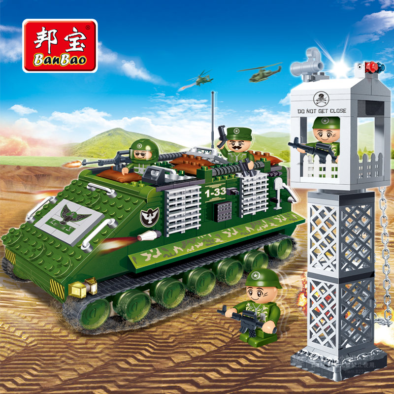 BanBao Military Educational Building Stacking Blocks Toys For Children Gifts Panzer Soldier Weapon Stickers Compatible Legoe banbao kung fu educational building blocks toys for children kids gifts super hero sky of evil temple chinese style