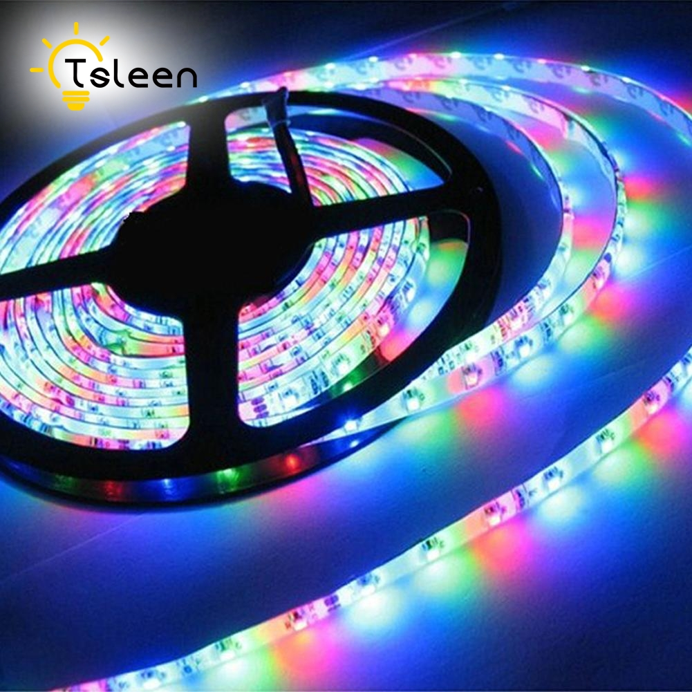 Cheap DC12V RGB LED Strip Light Christmas Decoration Lampada SMD5050 3528 Fita Led string Ribbon tape Bar Neon Waterproof
