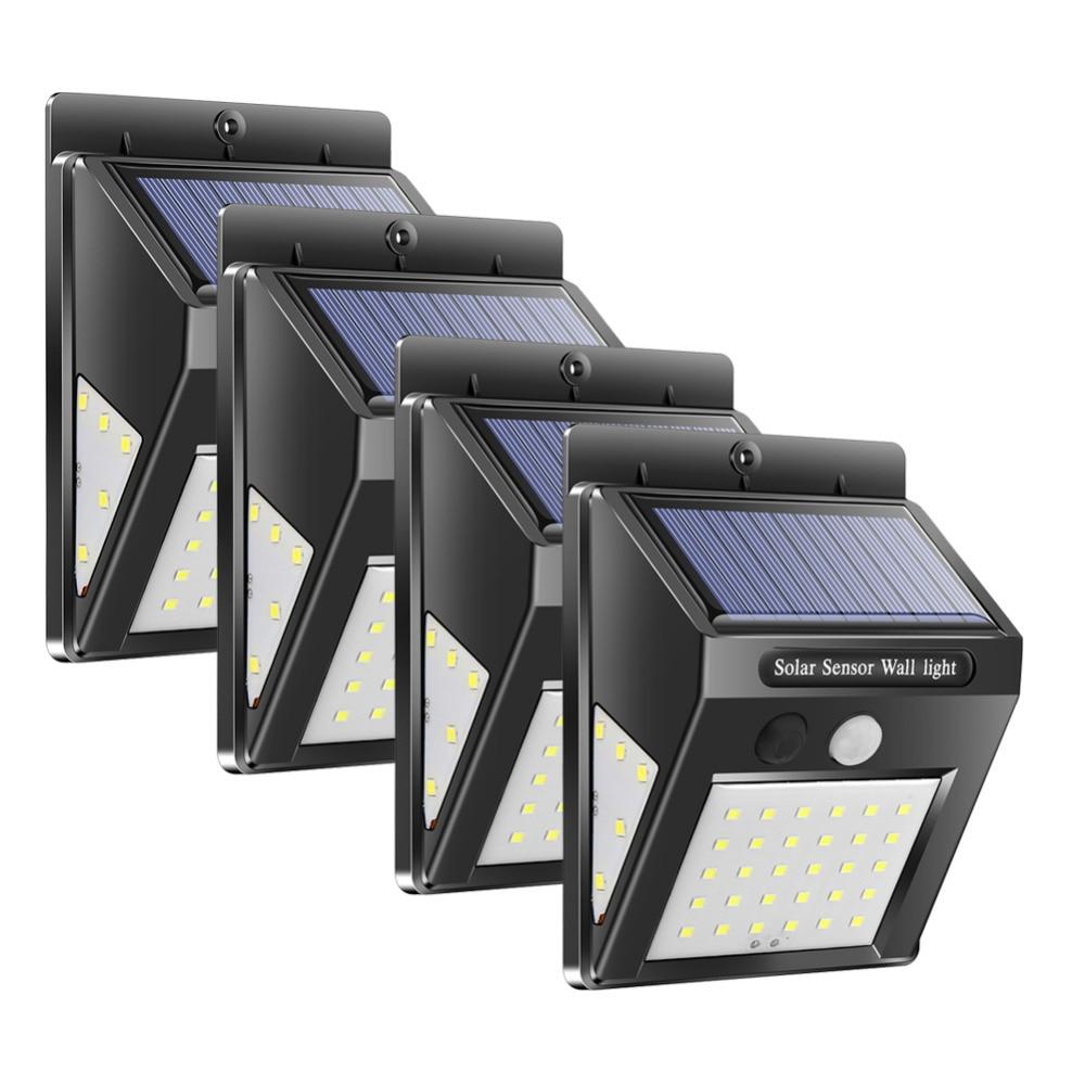2019 New 30/40 LED Solar Power Sensor Outdoor Wall Lamp Street Lamp Energy-saving Waterproof Garden Backyard Safety Light