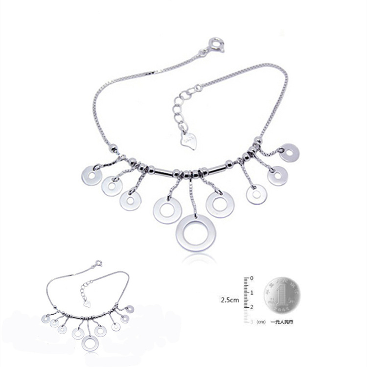 Special store Fashion Trend Loop Pendant Love 925 sterling silver Bracelet jewelry