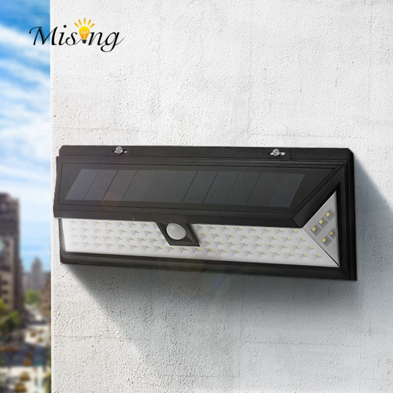 Mising Waterproof 80 LED Solar Light Outdoor Garden Light PIR Motion Sensor Emergency Wall Solar Lamp