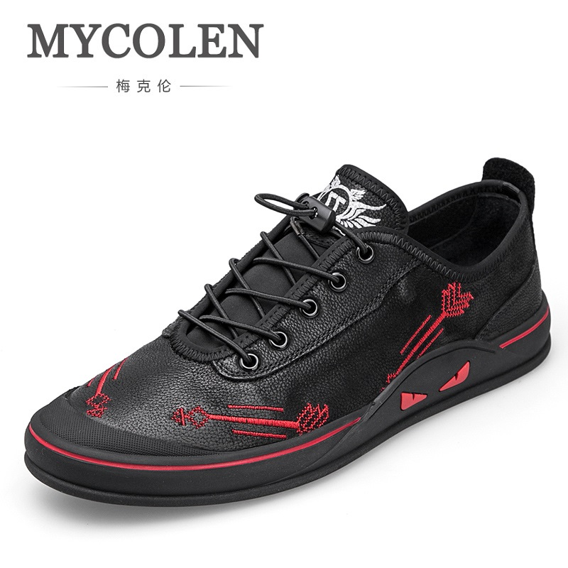 MYCOLEN Spring Summer Men Casual Shoes New Elastic Band Style Fashion Trend Sneakers Breathable Flat Youth Shoes Man Zapatilla mycolen the new listing men shoes brand new fashion mens sneakers 2018 breathable elastic band casual shoes man sepatu pria