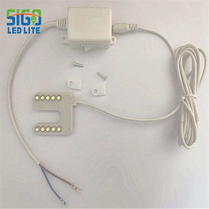 Gratis forsendelse Høj kvalitet 10 års fabrik D10U LED seniorbeklædningslampe U type tøjlamper med magnetisk