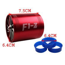 Universal F1-Z Double-sided Turbine for Car Dual Propeller Turbine Turbo Charger Supercharger Air Intake Gas Fuel Saver Car Part цена