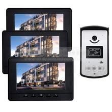 DIYSECUR 7 inch Video Door Phone Doorbell Home Security Intercom System RFID LED Night Vision Camera RFID Reader