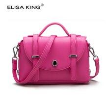 ELISAKIN brand desigher genuine leather women bags small ladies shoulder crossbody bag Fashion 2016 messenger flap bag for girls