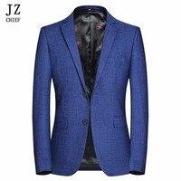 JZ CHIEF Men Jacket Autumn Plus Size Jacket Royal Blue Mens Blazer Size 4XL Suit Men