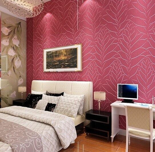 European style non woven wallpaper classic leaves urban stereo ...