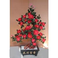 Custom 28 red rose jade jade ornaments crafts jewelry pot room Home Furnishing wedding gift