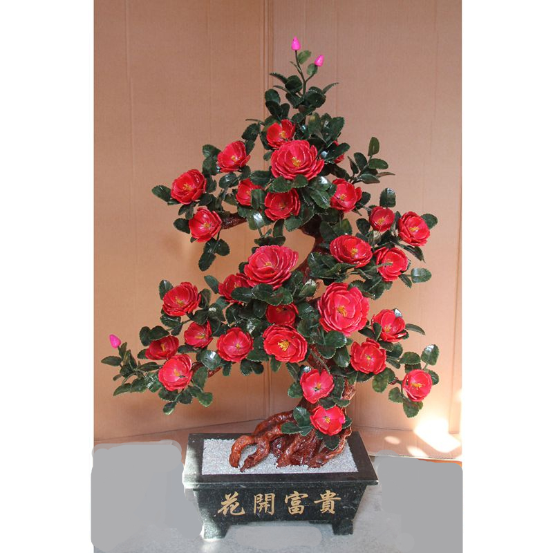 Custom 28 red rose jade jade ornaments crafts jewelry pot room Home Furnishing wedding gift 1 x cost saving drum and blade kit comptible for kyocera fs1016 fs1028 1100 fs1128 1135 1300d fs1320 fs1350 fs1370 fs720 820 920